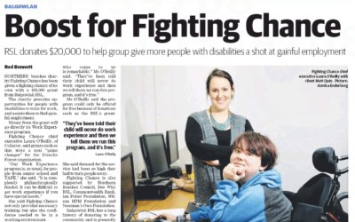 Boost for Fighting Chance – Manly Daily